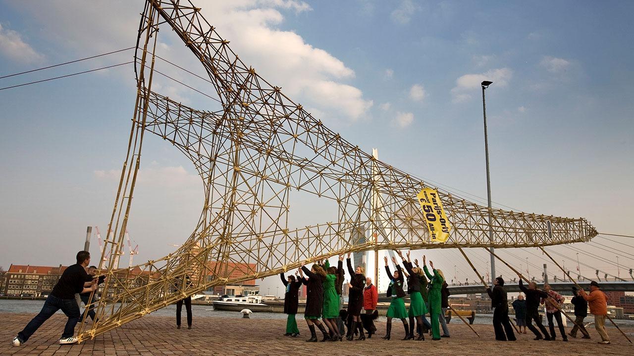 Transavia-Eiffeltoren-PR-stunt