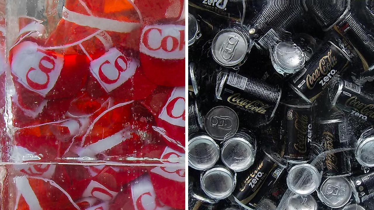 Coca-cola-ijsblok-extrema-merkactivatie-sampling