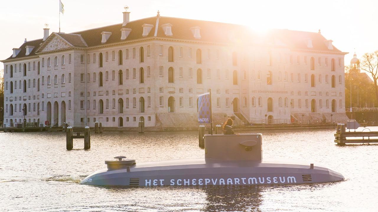 Scheepvaartmuseum-Onderzeeër-guerilla-marketing